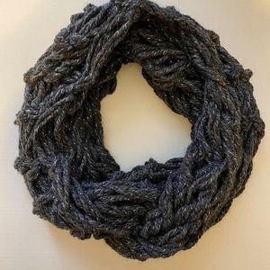 5/$25 Handmade Gray and Sparkle Infinity Scarf